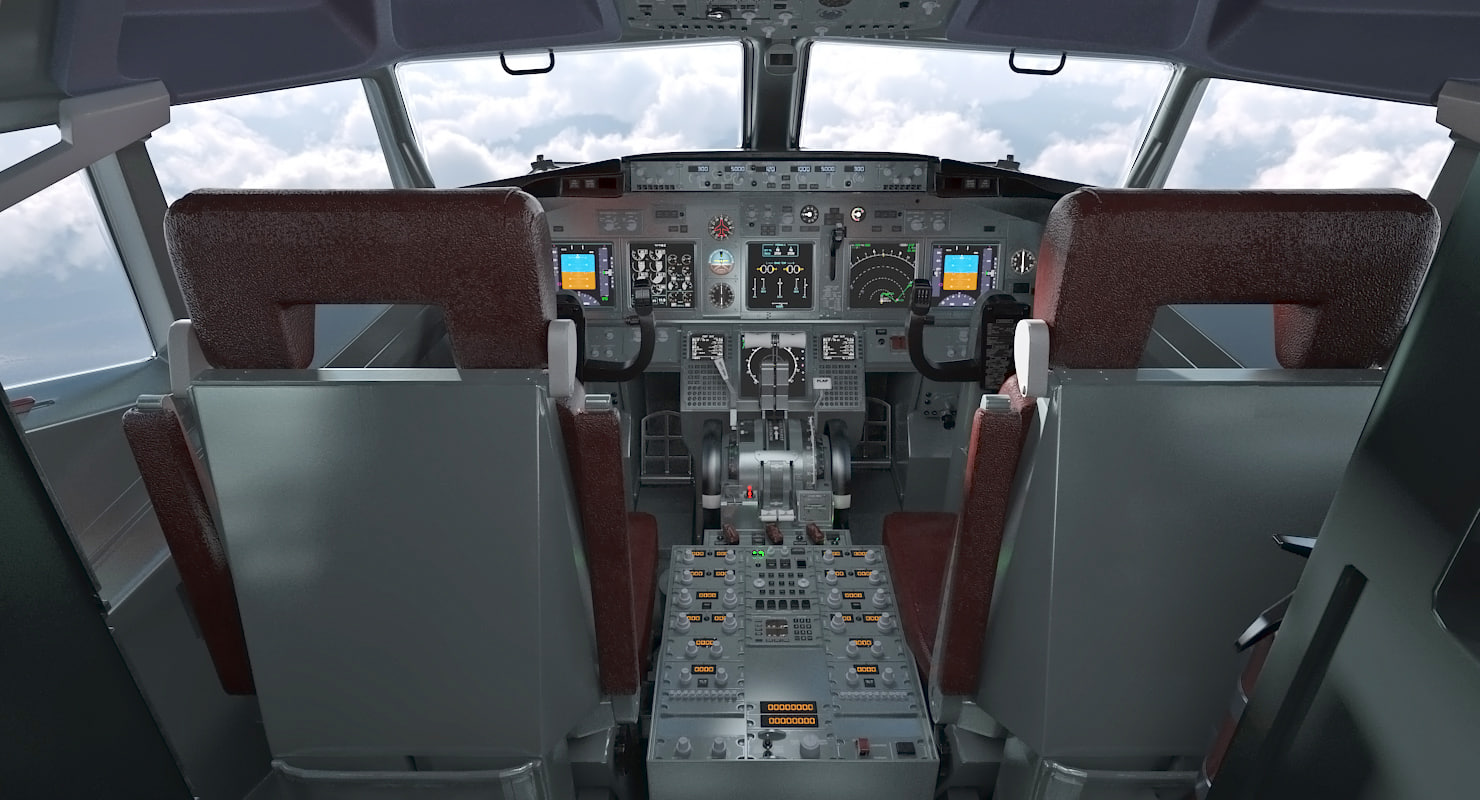3d Boeing 737 800 With Interior Delta Air Lines Rigged