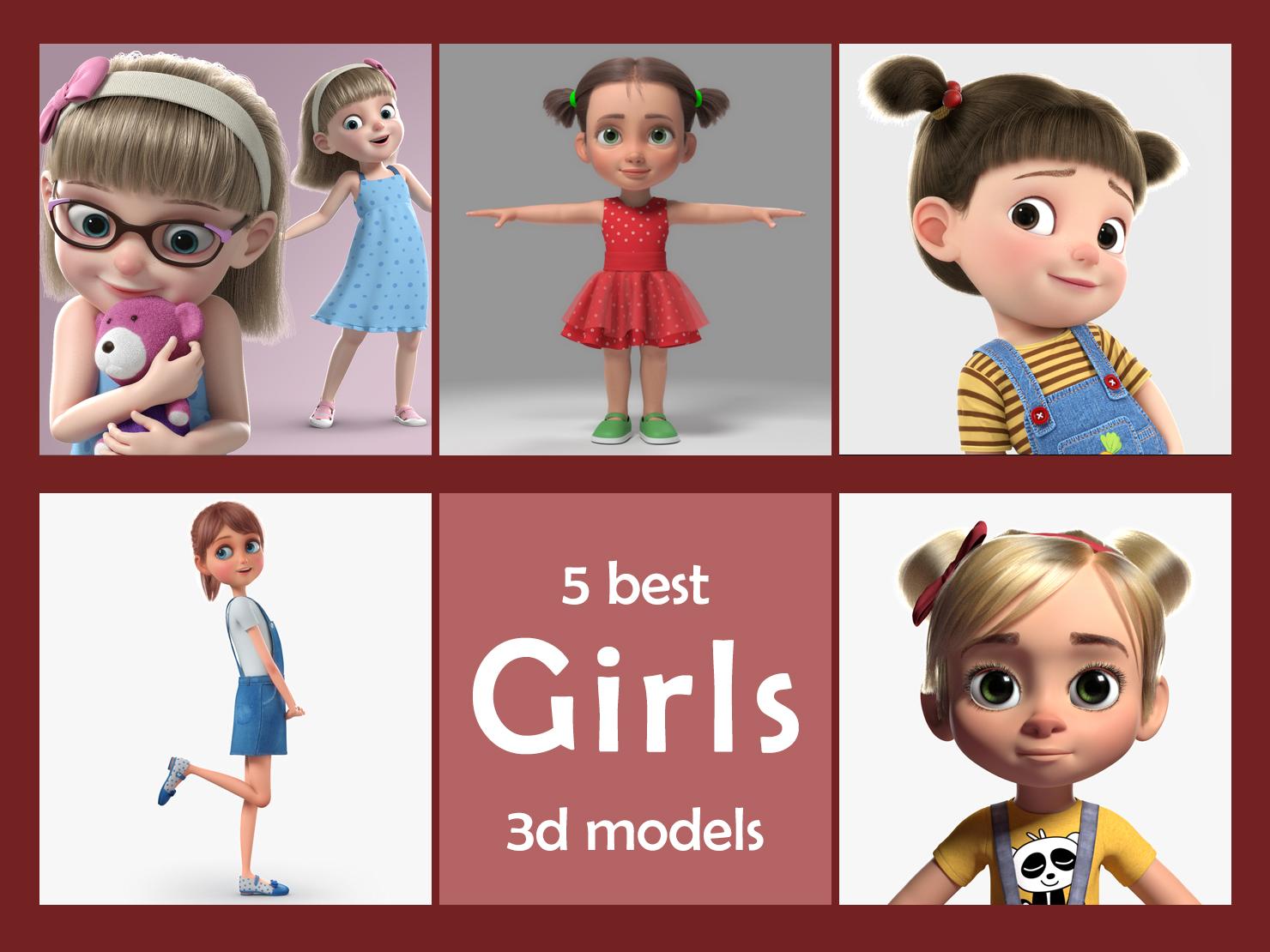 5 best girl 3d models