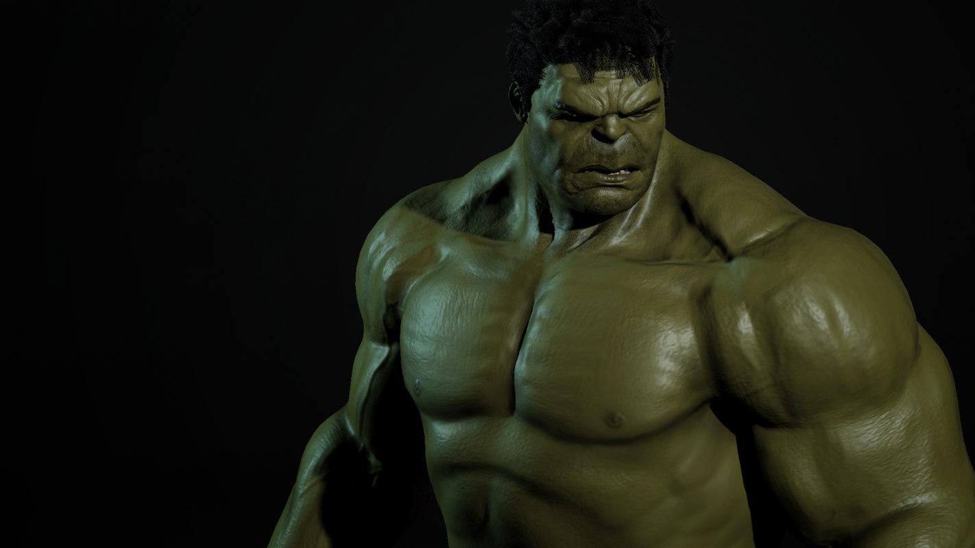 The Hulk rigged 3d model   Best Of 3d Models
