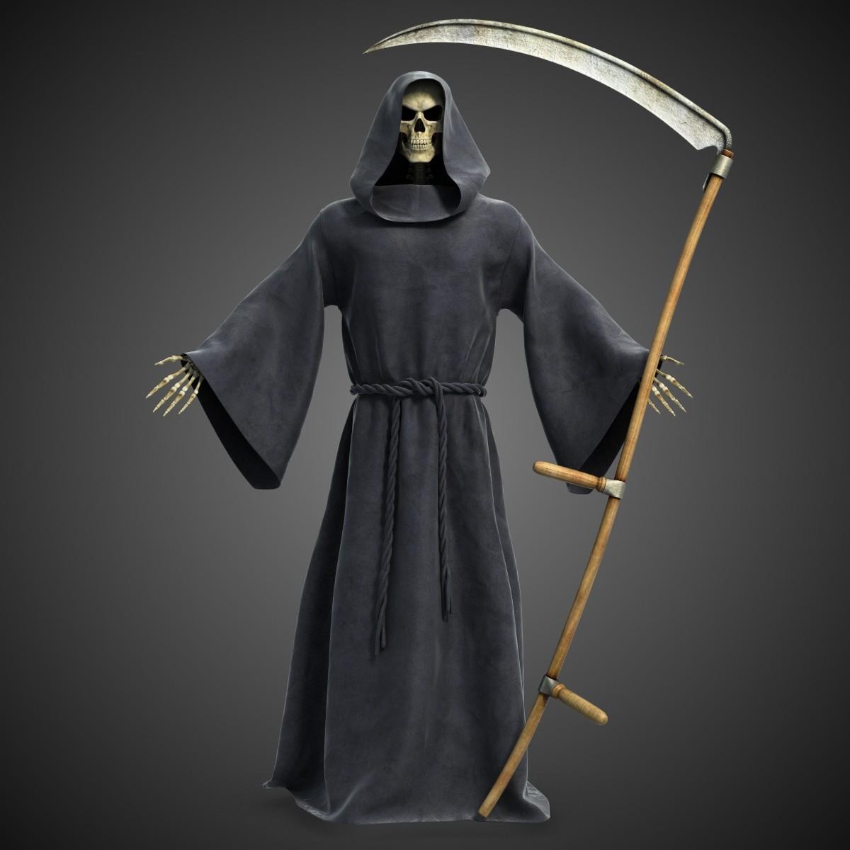 Death reaper with scythe 3d model best of 3d models Best 3d models