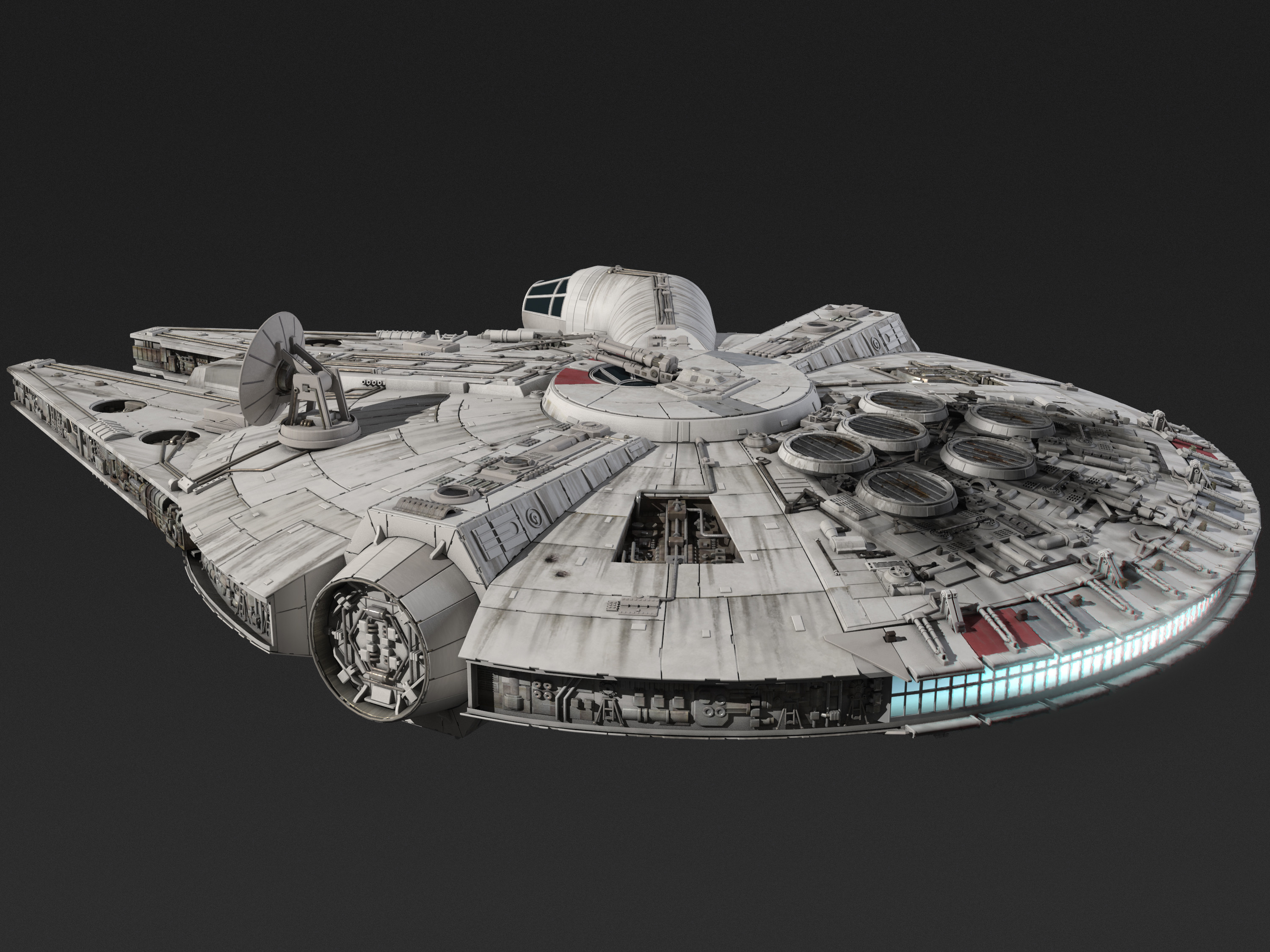 Millenium Falcon spacecraft 3d model