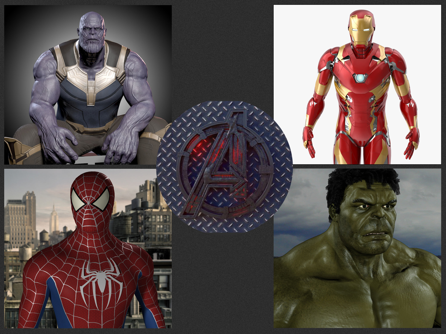avengers 3d models turbosquid