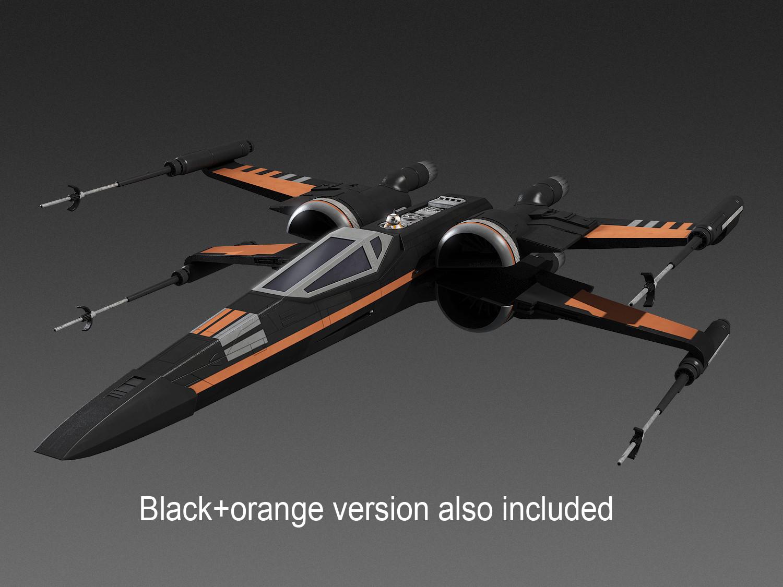 X-wing orange 3d model