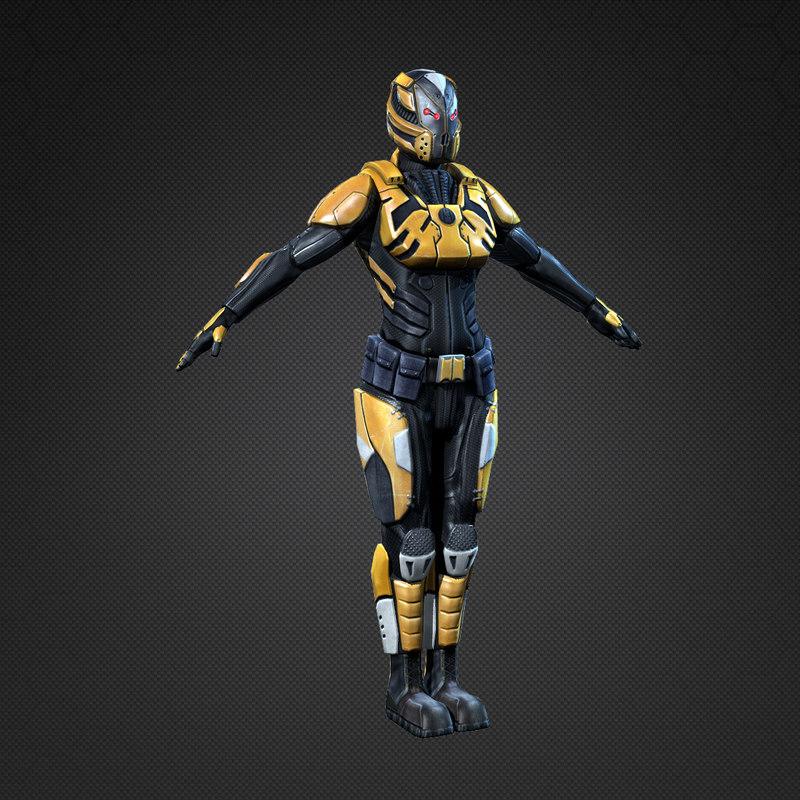 Sci-Fi Female Armor 3d model | Best Of 3d Models