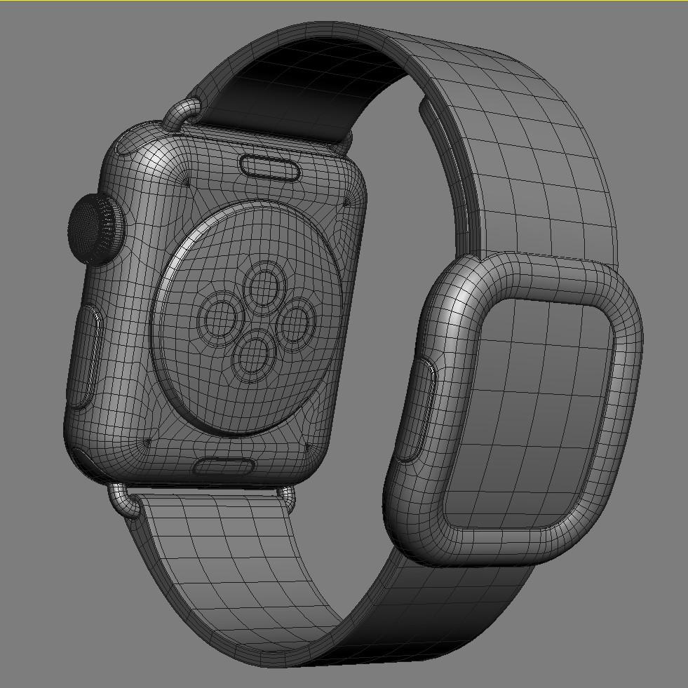 Apple Watch 38mm Stainless Modern Buckle 3d Model Best