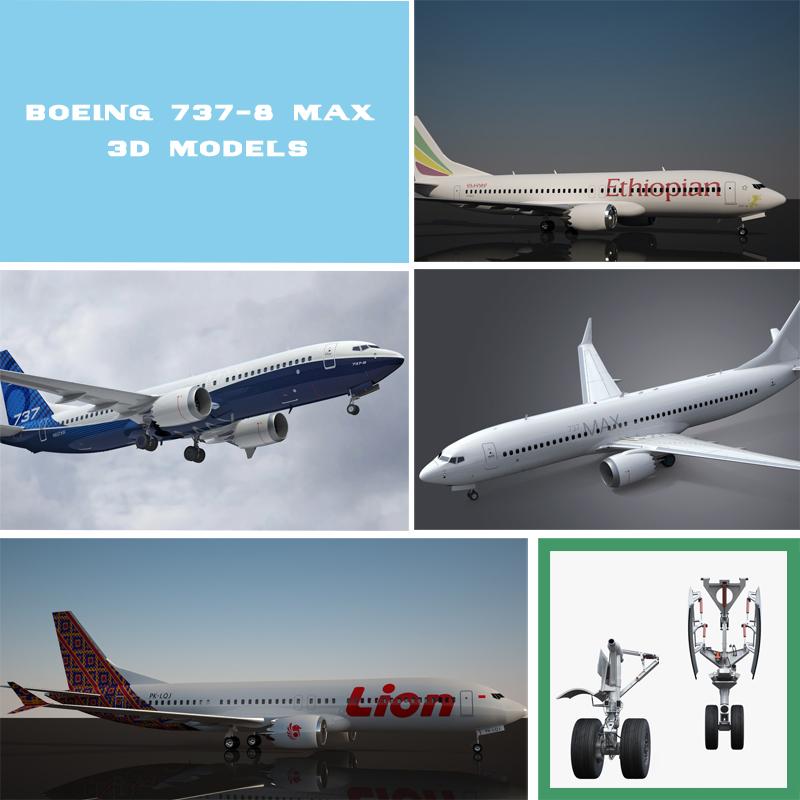 3d model boeing 737 airplane turbosquid