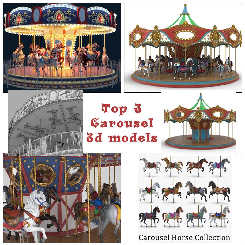 best carousel 3d models turbosquid