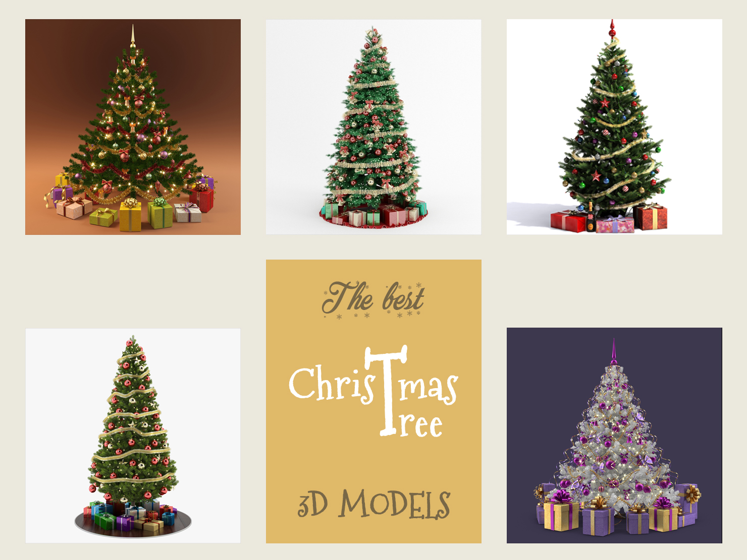 the best christmas tree 3d models turbosquid