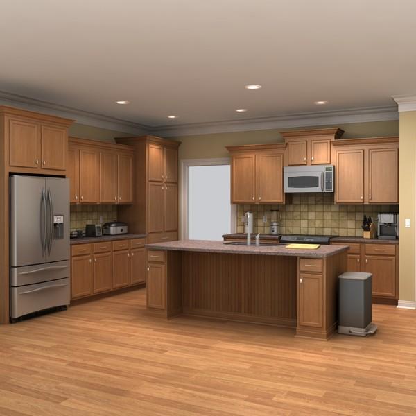 Full kitchen scene 1 best of 3d models for Kitchen set 3ds max