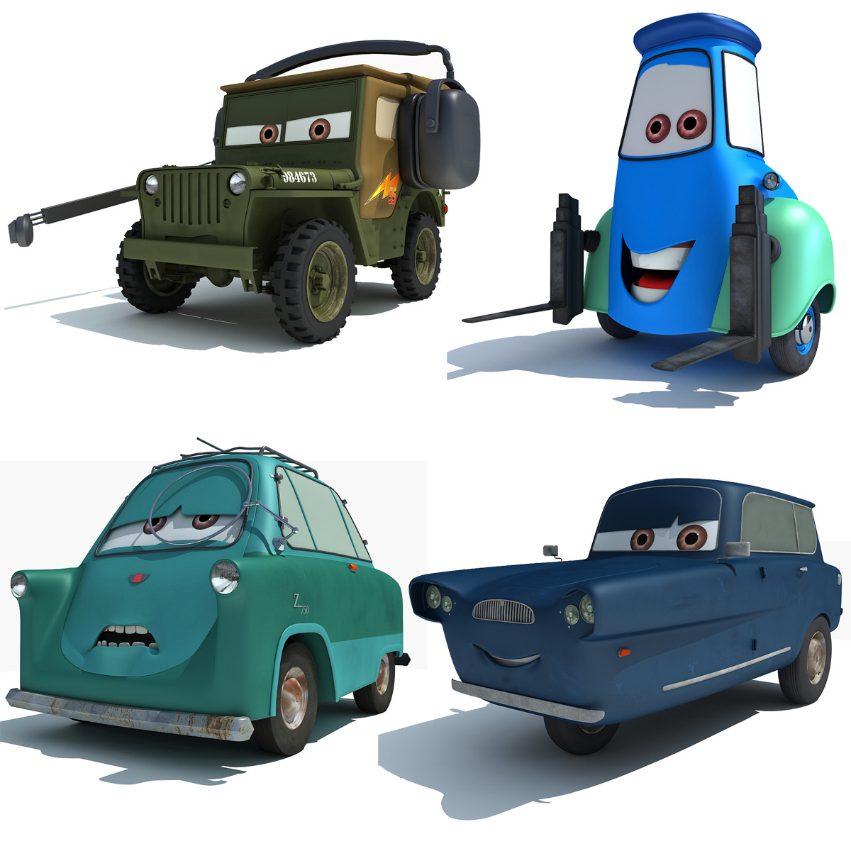 Disney Pixar Cars 2 Characters | Best Of 3d Models