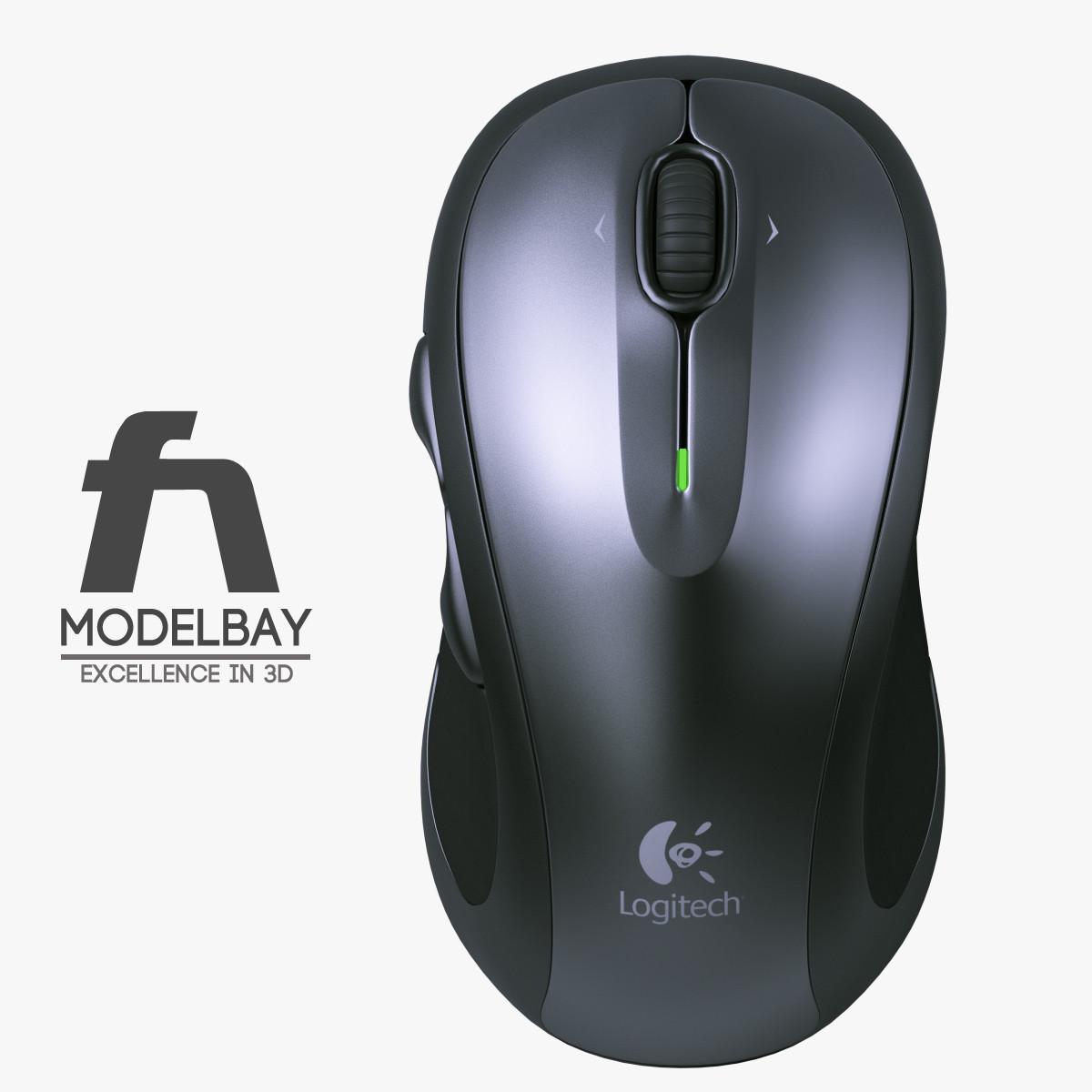 Logitech Wireless Mouse 3d Model