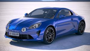 3d model of an Alpine A110