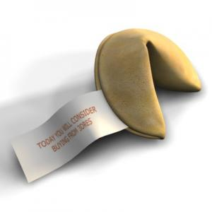 fortune cookie 3d model turbosquid