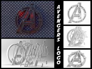 avengers logo age of ultron 3d model 3dexport