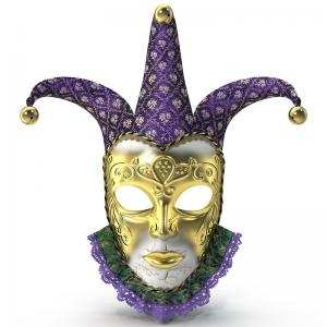 carnival venetian mask 3d model turbosquid