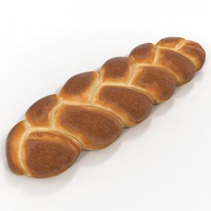 challah bread 3d model turbosquid