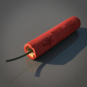 firecracker 3d model turbosquid