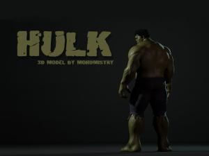 hulk 3d model turbosquid