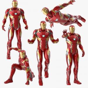 iron man poses 3d model turbosquid collection
