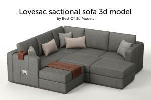 lovesac sactional sofa 3d model