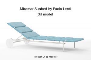 miramar sun bed 3d model