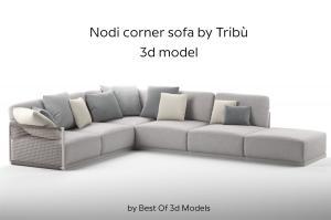 nodi corner sofa 3d model tribu