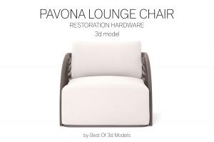 pavona lounge chair 3d model restoration hardware