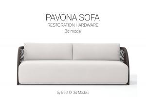 pavona sofa 3d model restoration hardware