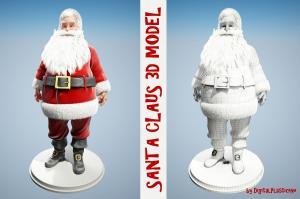 santa claus 3d model