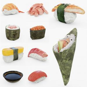 sushi 3d collection turbosquid