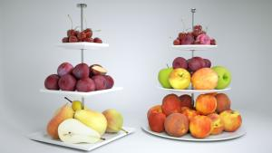 fruit etagere 3d model vizpark