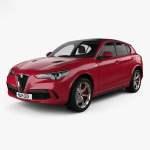 3d model of Alfa Romeo car
