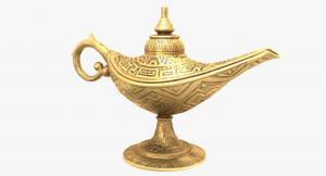 magic lamp aladdin 3d model turbosquid