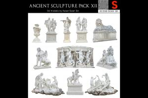 ancient sculpture scanned 3d collection turbosquid