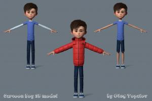 school boy 3d model turbosquid