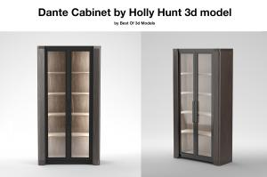 Dante Cabinet Holly Hunt 3d model