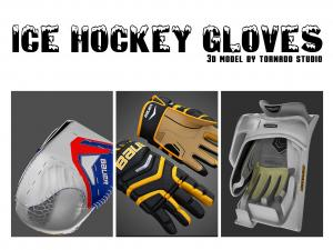 ice hockey gloves 3d collection turbosquid
