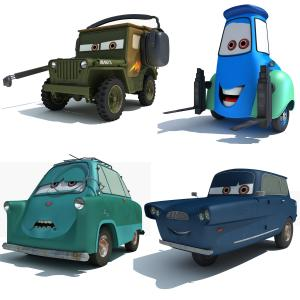 3d models from Cars2 movie