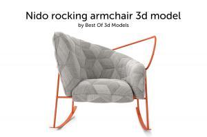 nido rocking armchair 3d model garda furniture
