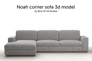 noah corner sofa 3d model