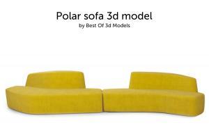 polar sofa tacchini 3d model
