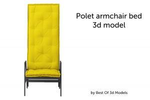 polet armchair bed 3d model twils