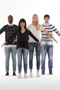 3d people bundle casual rigged 3d model renderpeople