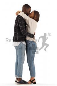couple posed 3d model renderpeople