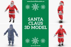 santa 3d model turbosquid