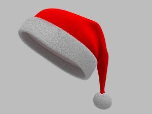 santa hat 3d model fur
