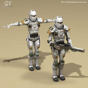 female soldiers 3d model 3dexport