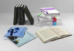set of books 3d model