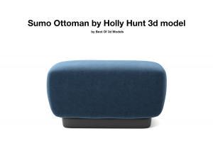 sumo ottoman holly hunt 3d model