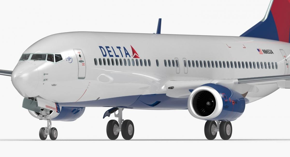 boeing delta airlines 3d model turbosquid crash